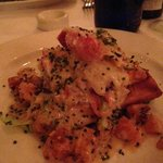Lobster Waffle with Butternut and Green Onion