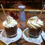 Hot chocolate in bar.