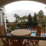 Balcony overlooking the Mediterranean