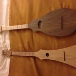Two upright dulcimers