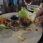 SHRIMP AND BEEF LETTUCE ROLL UPS
