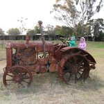 Fun on the rusty tractor