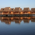 The Shwe Inn Tha Floating  Resort, as seen when you arrive by boot