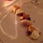 Super lækker dessert med bl.a. passionsfrugt