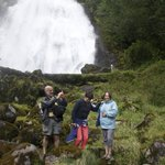 Enjoying ourselves at the foot of Chatterbox Falls