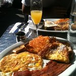 Toast Combo (w/upgraded Croissant French Toast) & a Mimosa!