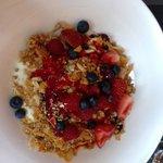 Yummy... yogurt with granola & berries!
