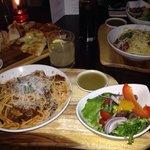 Lighter pasta & sharing breadboard.