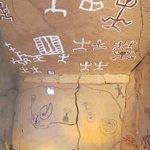 Sala de reproducción petroglifos y pintura rupestre