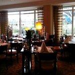 Restaurant area at the Golden Tulip