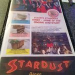 Stardust diner menu home of the singing waiters!
