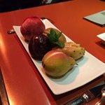 fruits frais fourres aux sorbets mmmmm