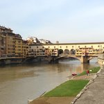 The view of the Ponte Vecchio from our hotel.