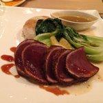 Ahi Tuna. Great vinaigrette!