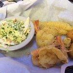 #6. 2 oysters, 2 shrimp, catfish fillet, slaw, hushpuppies