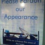 Un-dated please pardon our appearance sign (Feb 1, 2014)