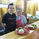 Chefs Luis and Fanny - both were so friendly and thus made our dining experience such a joy!