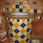 Mexican tile sink