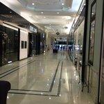 Upscale shopping area adjacent lobby
