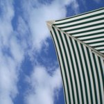 sky view from under the umbrella