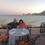 Me and my husband having dinner at the Mare Nostrum.
