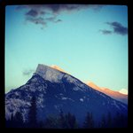 Sunset over Mount Rundle, view from just outside of the hotel.