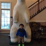 Polar bear in the lobby