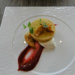 Niagara Walnut Tart-apple caramel, roasted apple & creme fraiche
