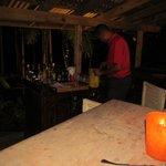 Tree bar at night