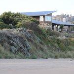 Blick vom Strand auf das Haus