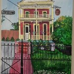 Our comissioned painting of the Maison de Macarty