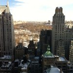 View of Central Park from the 39th floor elevator landing. gorg!