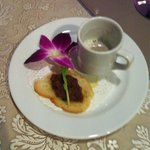 Complimentary mushroom cappuccino. Delicious!!