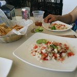 Excellent fish ceviche