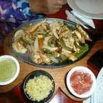 Bland chicken fajitas