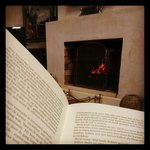 When it is cold there is nothing better then a good book in front of the fire place!