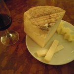 Italian cheese and wine