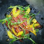 Honey Cured Salmon, Orange, Dill & Pea Shoot Salad