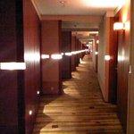 Corridor with nice & warm color design