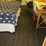 Rought dark flooring - like in a boat house
