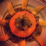 La salade de fruits.