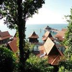 vue des Beach bungalows