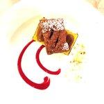 Millefoglie ai 2 cioccolati e gelatina d'olio Garda Dop