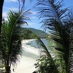 La vue depuis les Beach cabanas