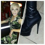 """Drag show - """"Pink"""" (outstanding performer) and her/his oh so high heels!!"""