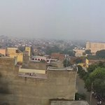 Panoramic view from the rooftop of Agra
