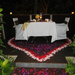 Romantic Dinner on the Terrace in the Villa