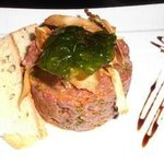 Steak tartar plate