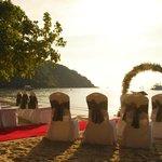 The wedding layout