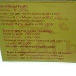 フォートまではタクシーチャーターが基本的。公式のタクシー料金